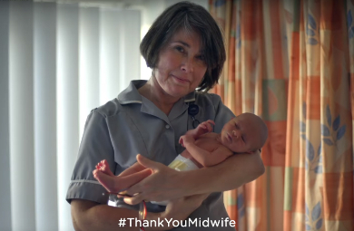 Pampers 'Thank You Midwife'