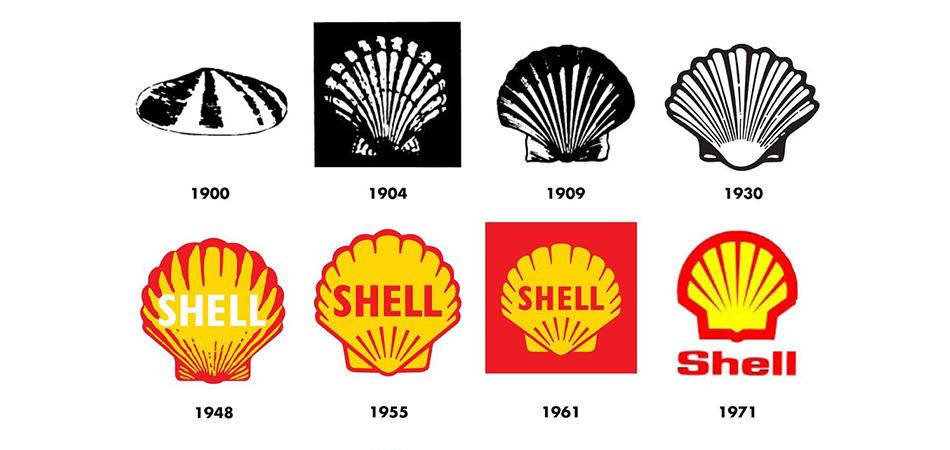 Evolution the the Shell logo