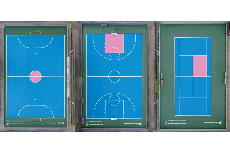 ESPNW 'Inequality Courts' by Africa, São Paulo