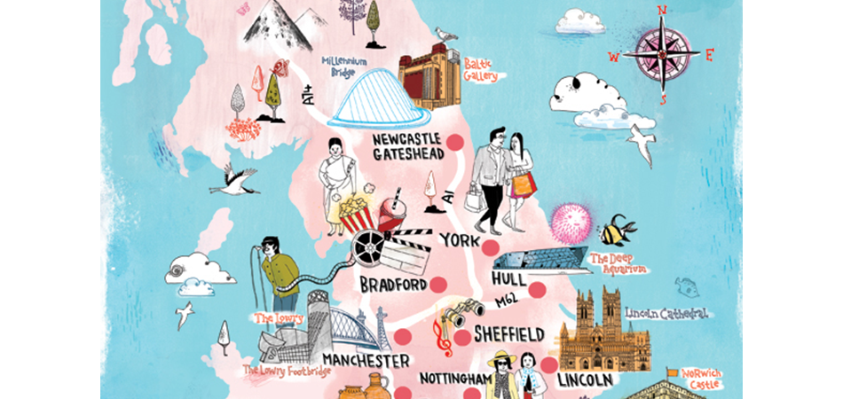 Tilly AKA Running For Crayons illustration for Time Out London and Visit England