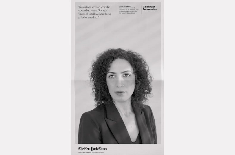 The New York Times 'The Truth Has a Voice' by Droga5 New York
