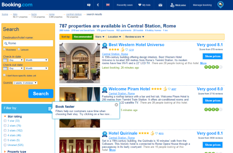Booking.com behavioural insights