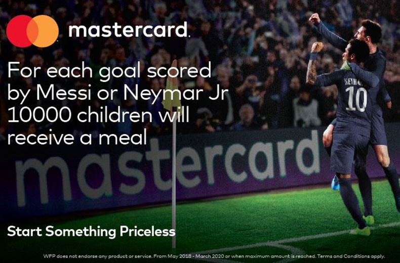 Mastercard 'Feed a Child Pledge'