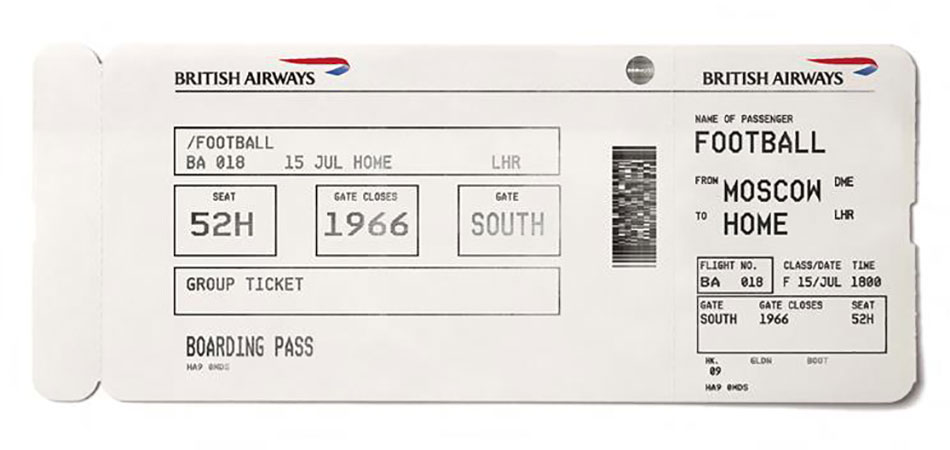 British Airways and Ogilvy UK's World Cup boarding pass