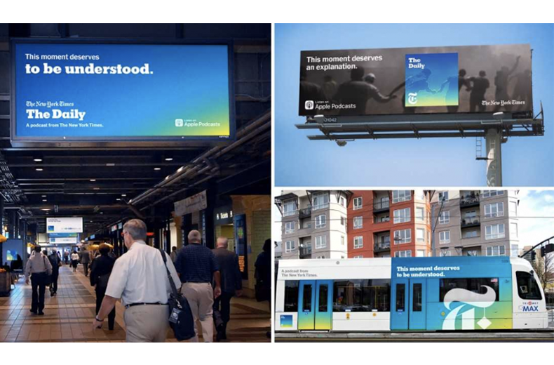 The New York Times - The Daily OOH ads