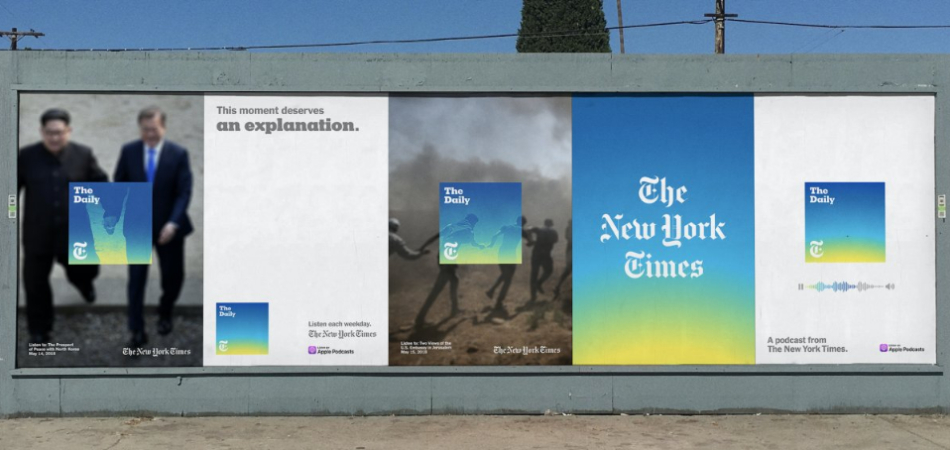 The New York Time - OOH ads for 'The Daily' podcast
